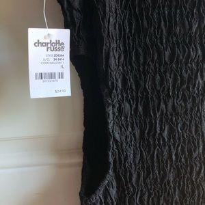 Charlotte Russe Black Dress w/ Side Cut-Outs